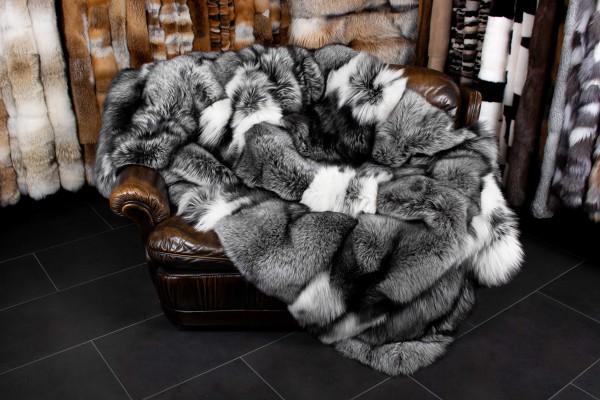Platinum Frost Pelzdecke aus Skandinavischen Füchsen