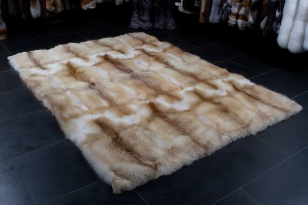 Rotfuchs Echtfell Teppich in Creme