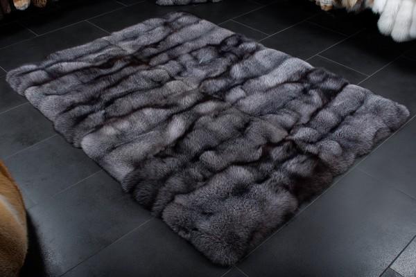 Blue Frost Fuchs Teppich - 100% Echtfell