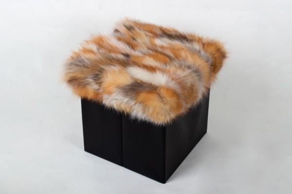 Fuchsstücken Sitzwürfel in Naturfarben