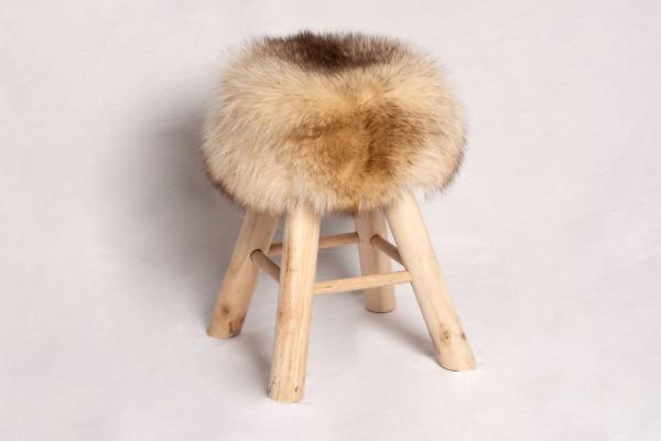 Kanadischer Waschbär Pinienholz Sitzhocker
