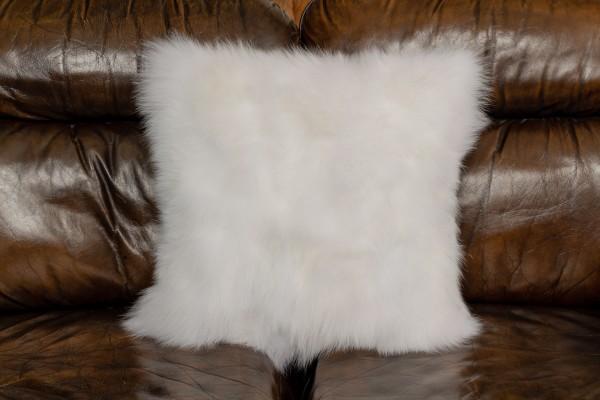 Weißes Shadow Fuchsstücken Kissen