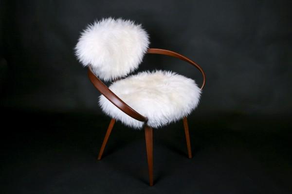 Cherner Stuhl - Lammfell weiß aus Australien