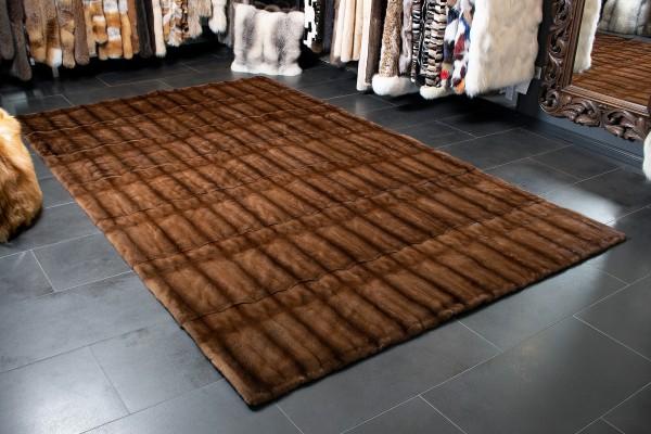 Großer Nerz Teppich aus Echtpelz