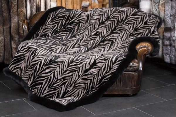 Nerzstücken Decke - Ausgelassene Zick-Zack-Verarbeitung