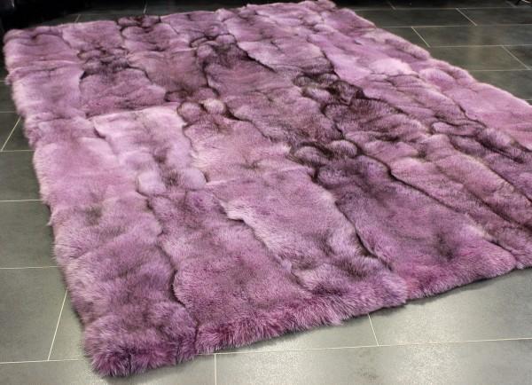 Exklusiver Fuchs Pelzteppich in rosa