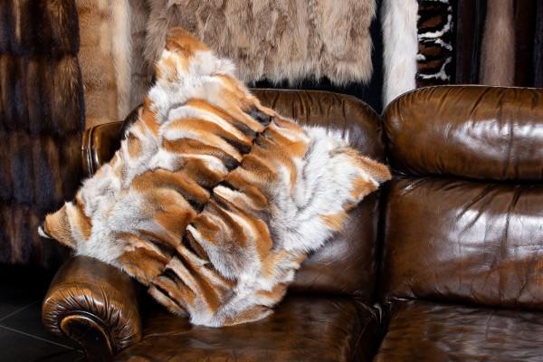 Rotfuchspfoten Fellkissen aus Echtpelz - Light Type