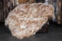 Felldecke aus skandinavischen Fuchsseiten -