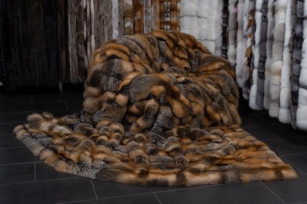 Große Kanadische Wild Cross Fuchs Felldecke