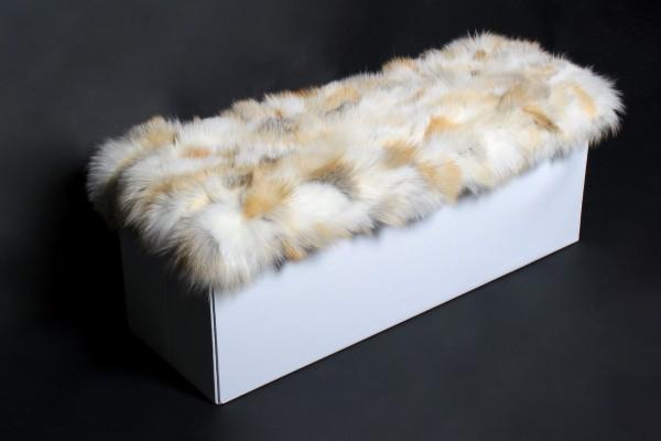 Weiße Sitztruhe mit Golden Island Fuchs Stücken Bezug