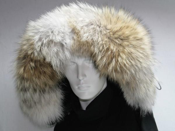 Pelzverbrämung aus Kojotenfell für Ihre Kapuze