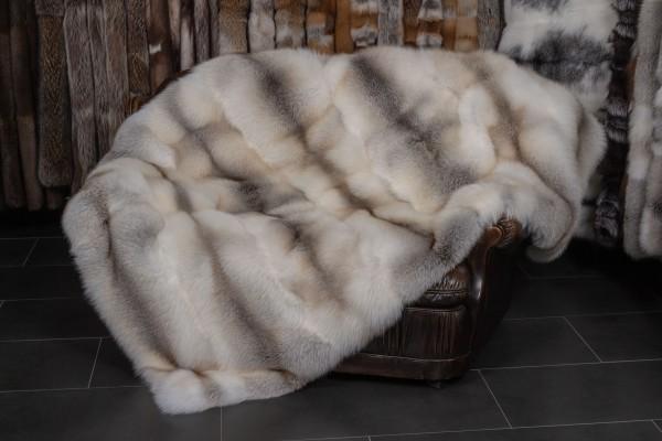 Naturfarbene Fawnlight Fuchs Pelzdecke (SAGA Fur)