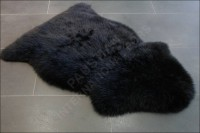 Schafsfell - Lammfell in schwarz