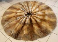 Rotfuchs Pelz Teppich rund