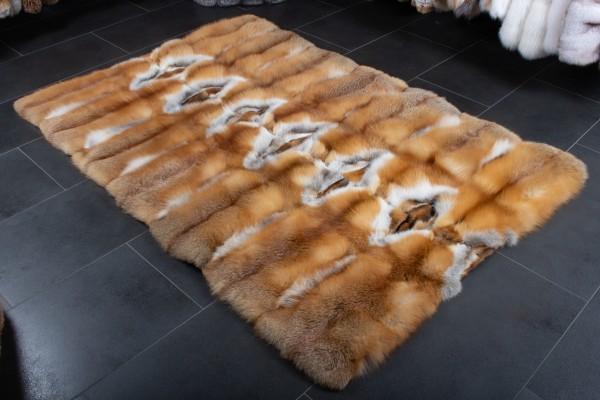 """Rotfuchs Fellteppich aus Kanadischen Rotfüchsen - """"Cool Winter"""""""