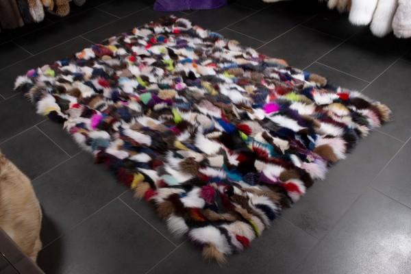 Multicolor Fuchsseiten Pelzteppich