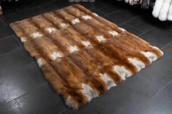 Europäischer Rotfuchs Fellteppich aus Echtfell