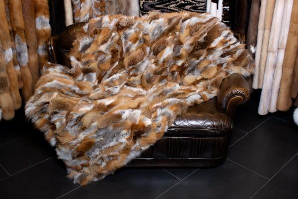 Europäische Rotfuchs Pelzdecke aus 100% Naturmaterialien