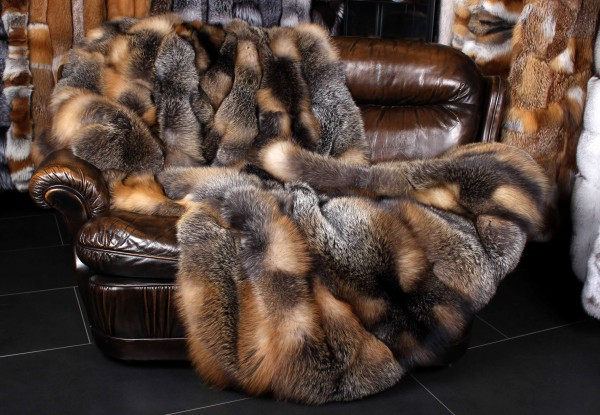 Kanadische Wild Cross Fuchs Pelzdecke