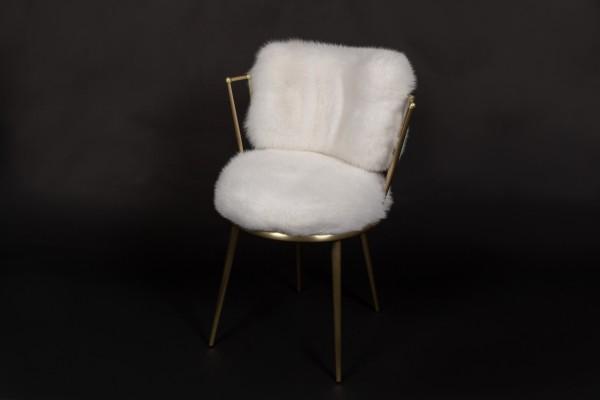 Cantori Stuhl mit weißen Shadowfuchs Sitzbezügen