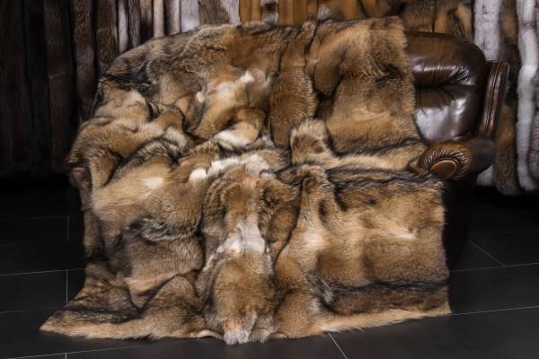 Kojoten Pelzdecke aus Kanadischen Fellen