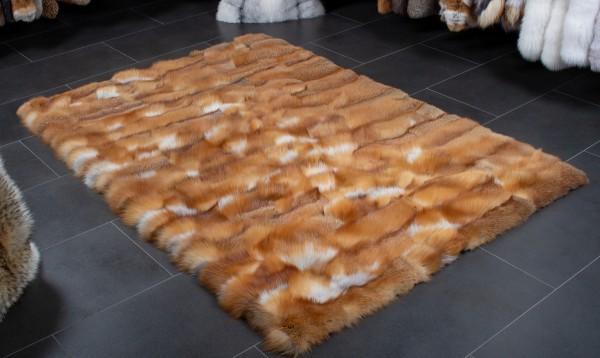 Rotfuchs Pelzteppich aus kanadischen Fuchsstücken