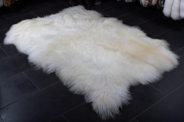 Nordland Schnucken Felleppich in weiß