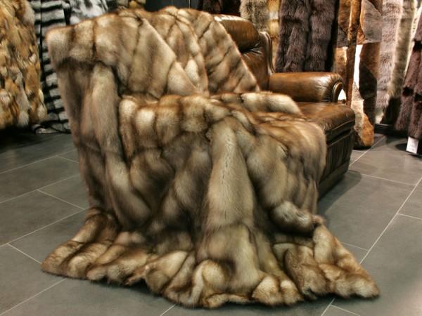Steinmarder Pelz Decke aus europäischen Fellen