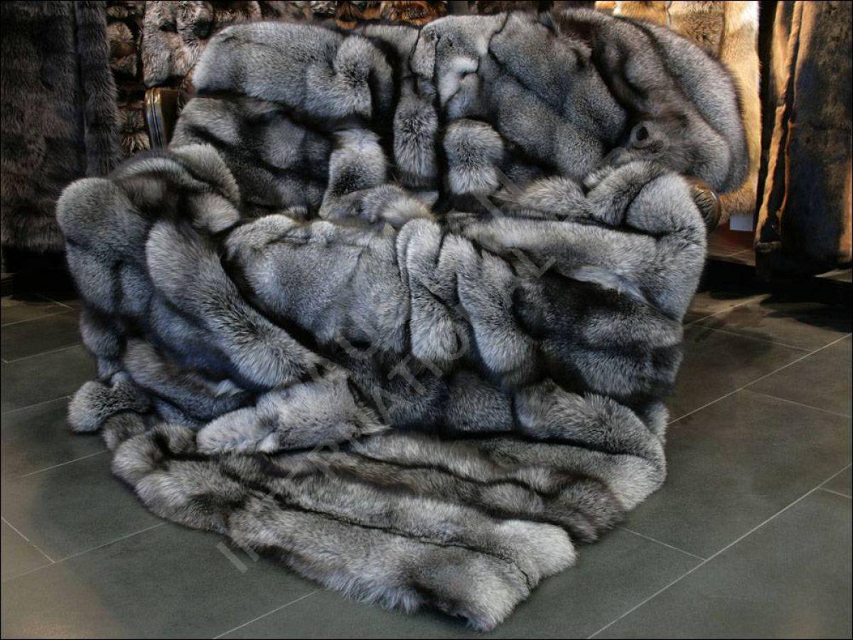 550 saga fox blue frost pelzdecke oa ware echt pelz fell decke xxl ebay. Black Bedroom Furniture Sets. Home Design Ideas