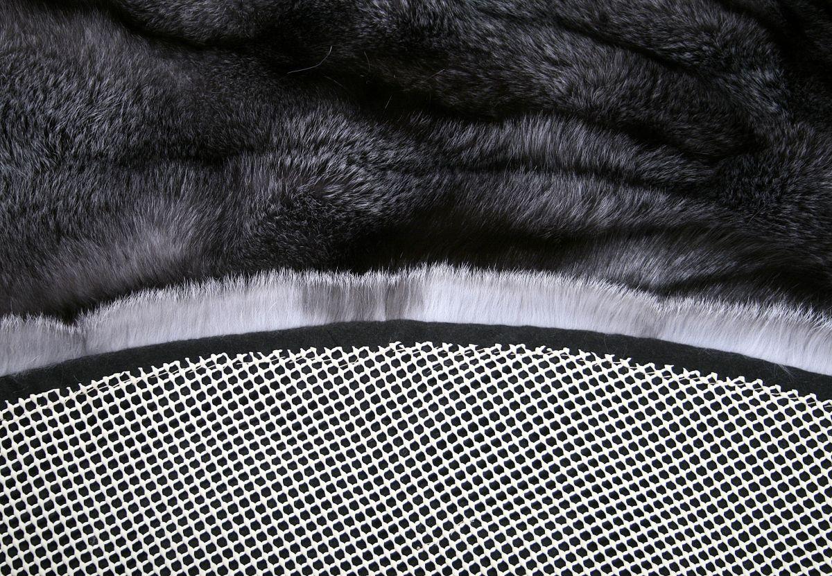 1222 saga bluefrost fuchsfell pelzteppich in natur grau. Black Bedroom Furniture Sets. Home Design Ideas
